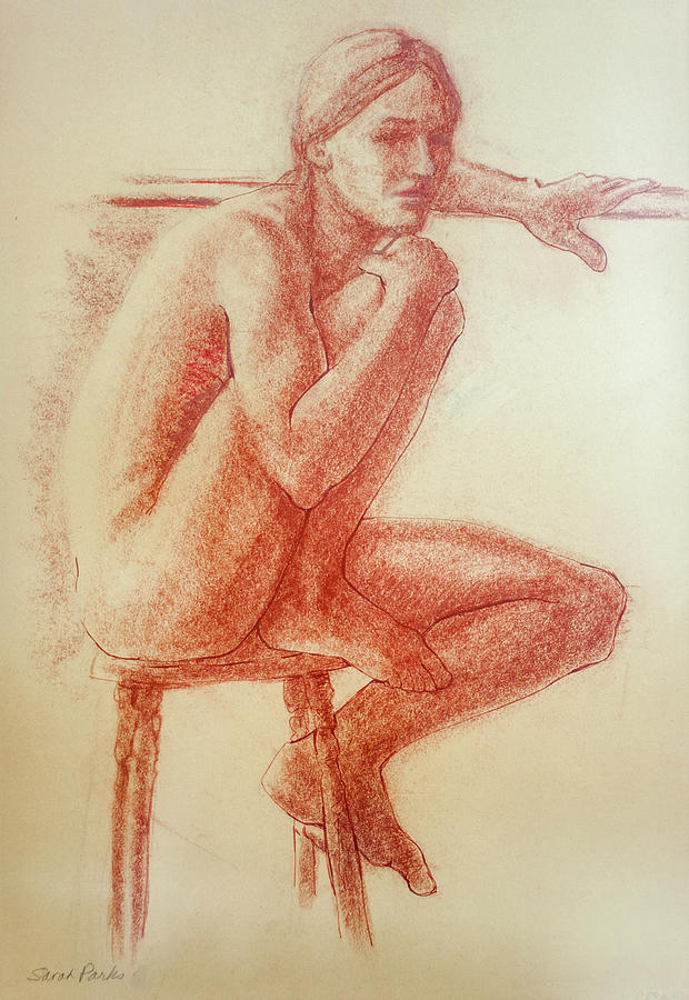 Figurative Drawing - Seated At The Barre by Sarah Parks