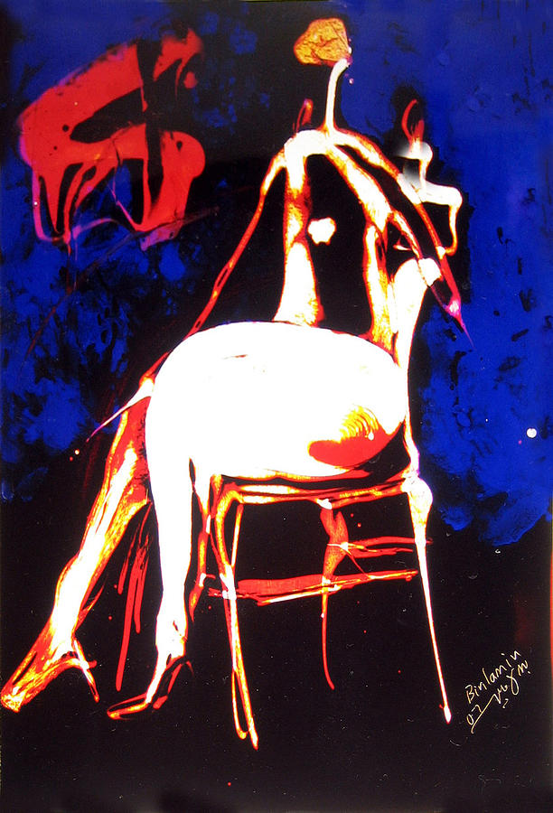 Beings Painting - Seated Being No1 by MBL Binlamin