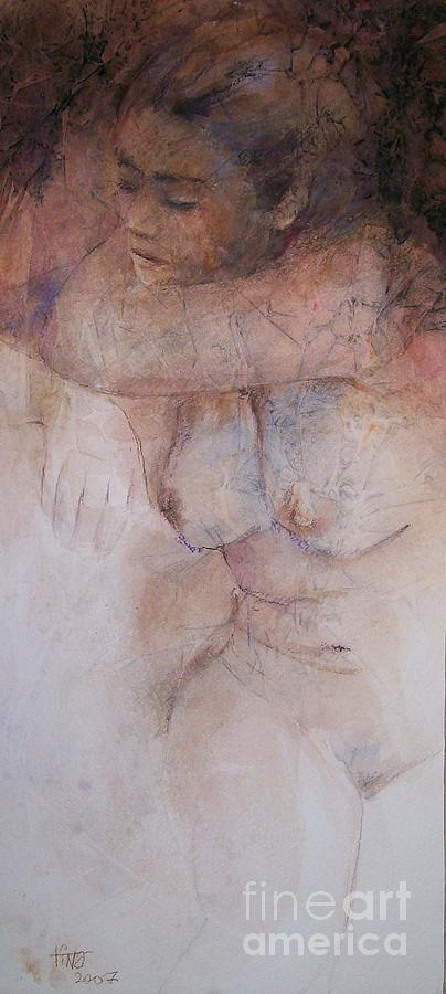 Figurative Painting - Seated figure by Tina Siddiqui