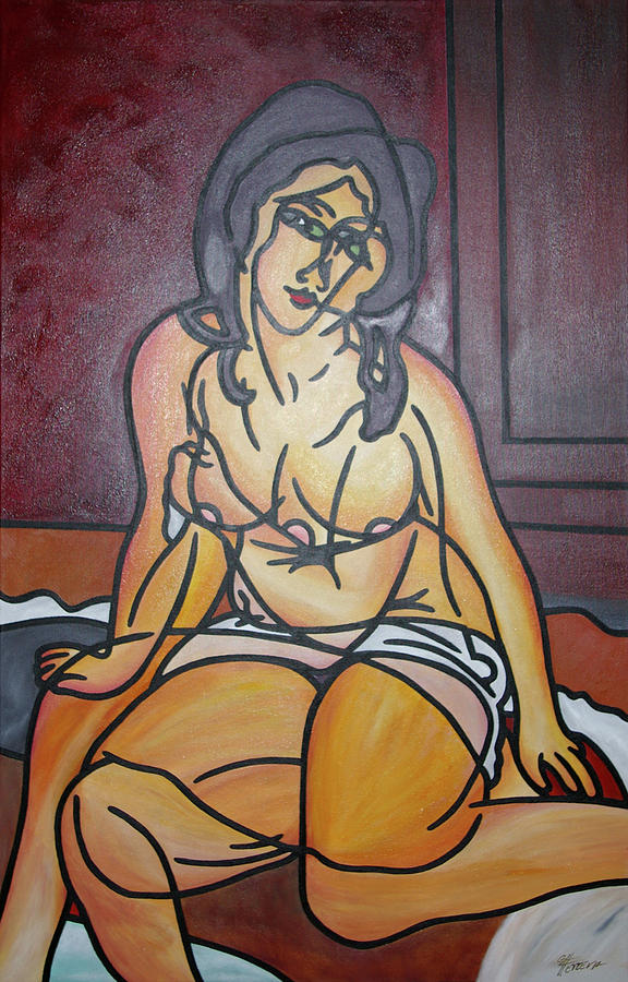 Amedeo Modigliani Painting - Seated Nu by Guadalupe Herrera