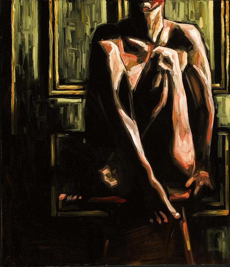 Figurative Painting - Seated Nude IIi by Kim Logan
