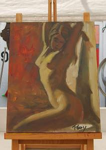 Painting Painting - Seated Nude by Perry  Rubenstein