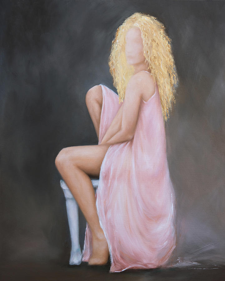 Seated Pose in Pink by Nicole Daniah Sidonie