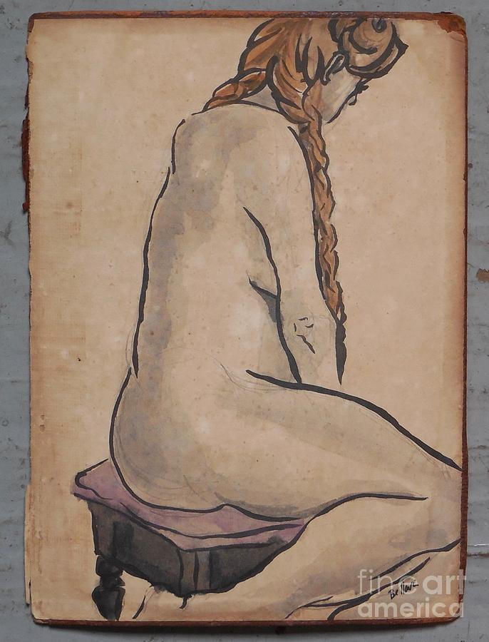 Seated with braids. by M Bellavia