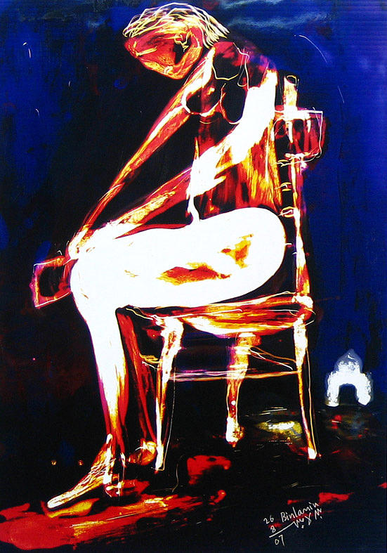 Seated Woman No1 Painting by MBL Binlamin