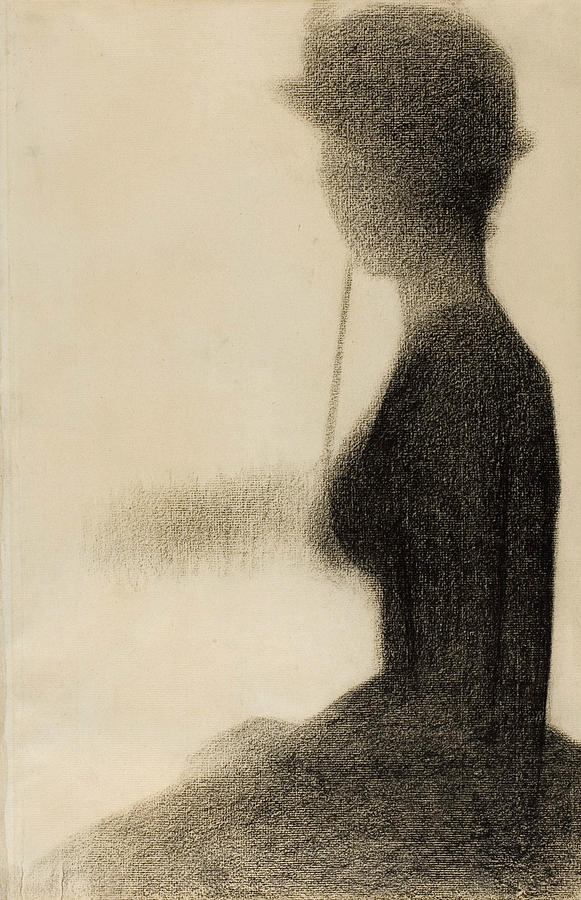 Georges-pierre Seurat Drawing - Seated Woman With A Parasol Study For La Grande Jatte by Georges-Pierre Seurat
