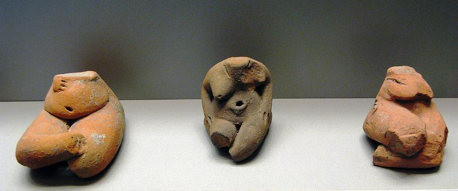 Neolithic Figurine Photograph - Seated Women by Andonis Katanos