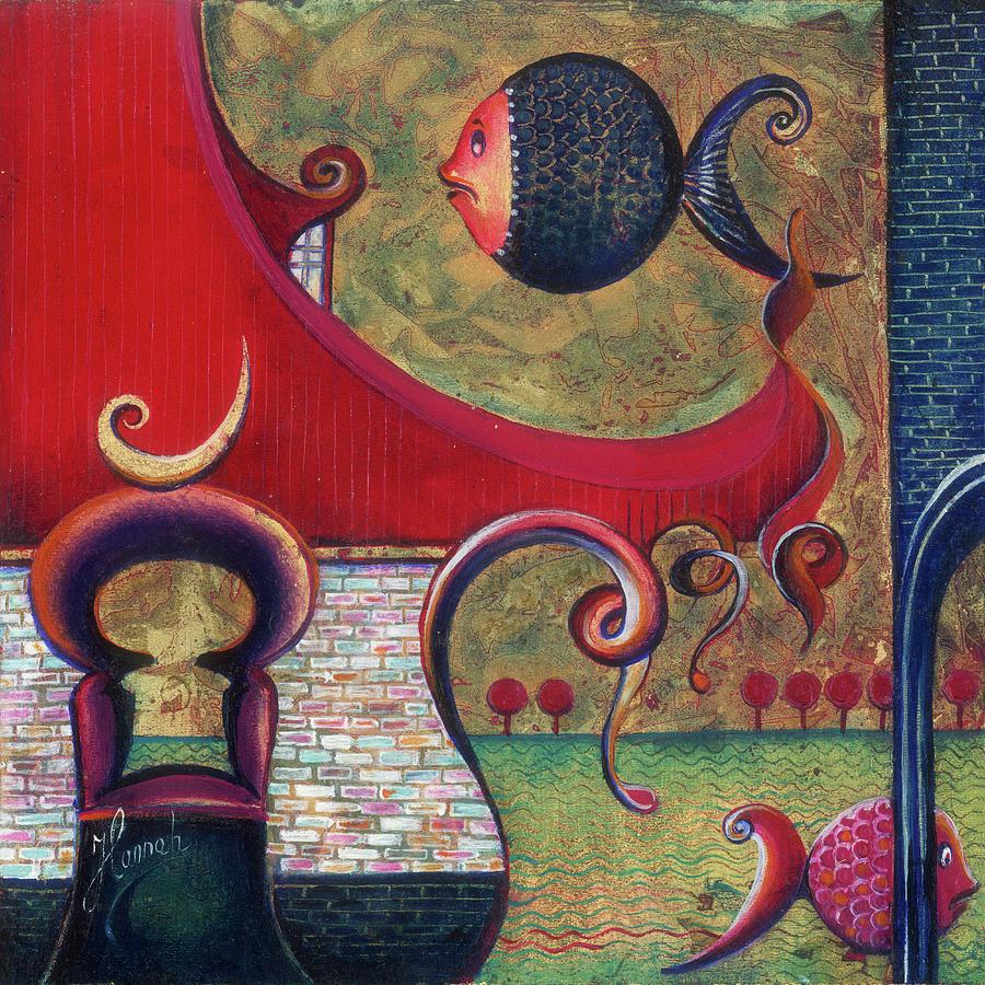 Fish Painting - Seatime by Anna Ewa Miarczynska