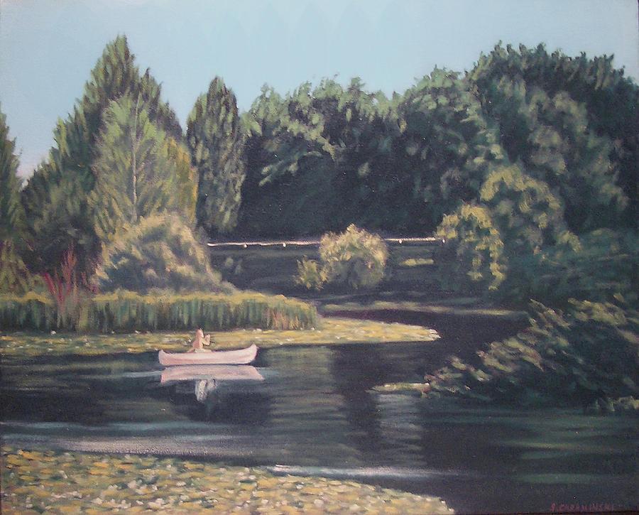 Seattle Arboretum Canoe by Stan Chraminski