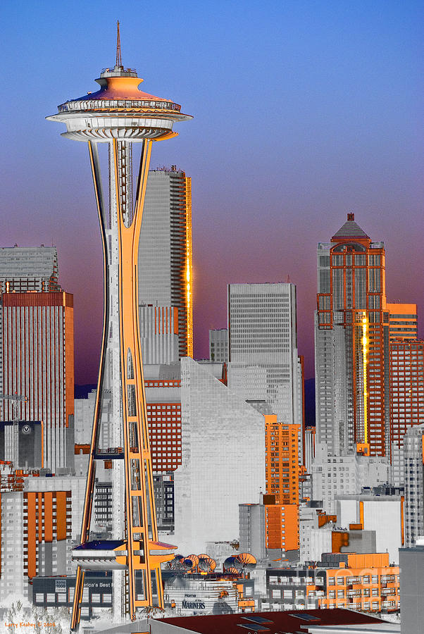 Seattle Photograph - Seattle Architecture by Larry Keahey