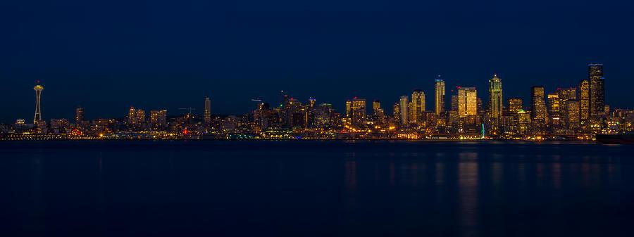 Seattle At Dusk Photograph