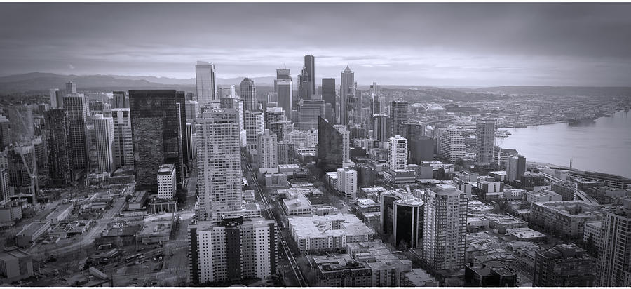 Seattle black and white  by Cathy Anderson