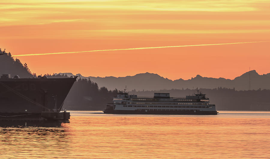 Seattle - Bremerton Ferry by E Faithe Lester