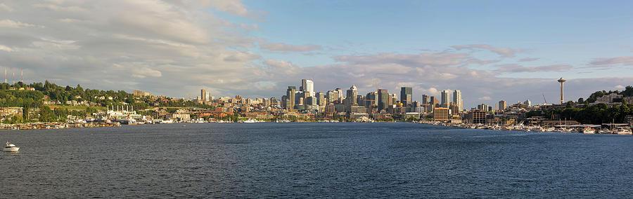 Seattle Photograph - Seattle City Skyline along Lake Union by David Gn