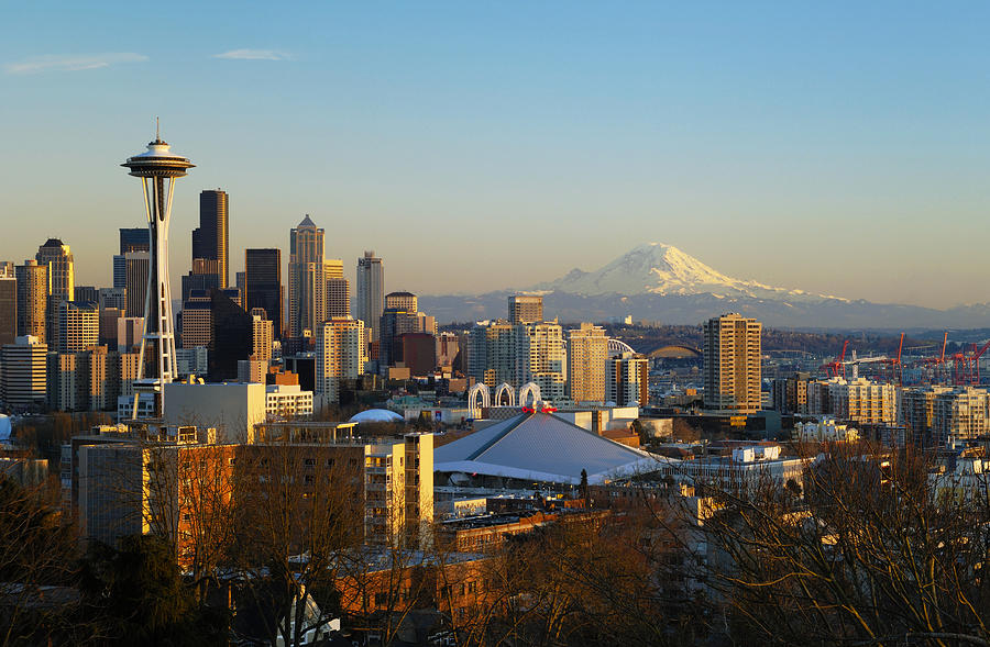 Afternoon Photograph - Seattle Cityscape by Greg Vaughn - Printscapes