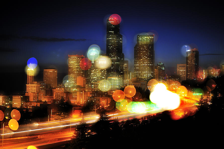 Seattle Photograph - Seattle Color Spots C086 by Yoshiki Nakamura