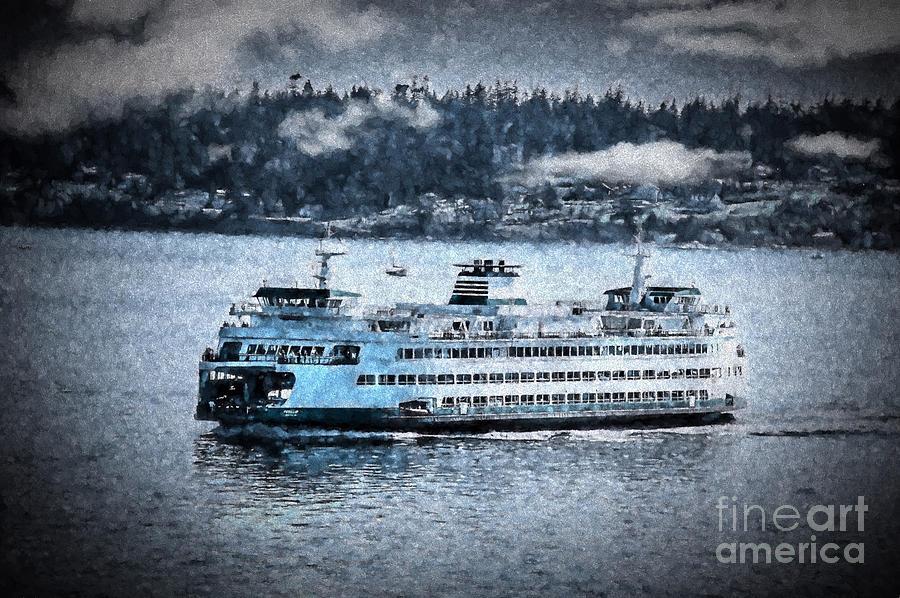 Ferry Photograph - Seattle Ferry by Flamingo Graphix John Ellis