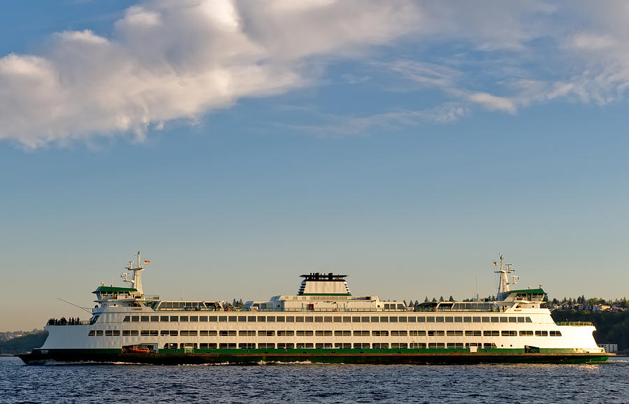 Seattle Photograph - Seattle Ferry by Tom Dowd