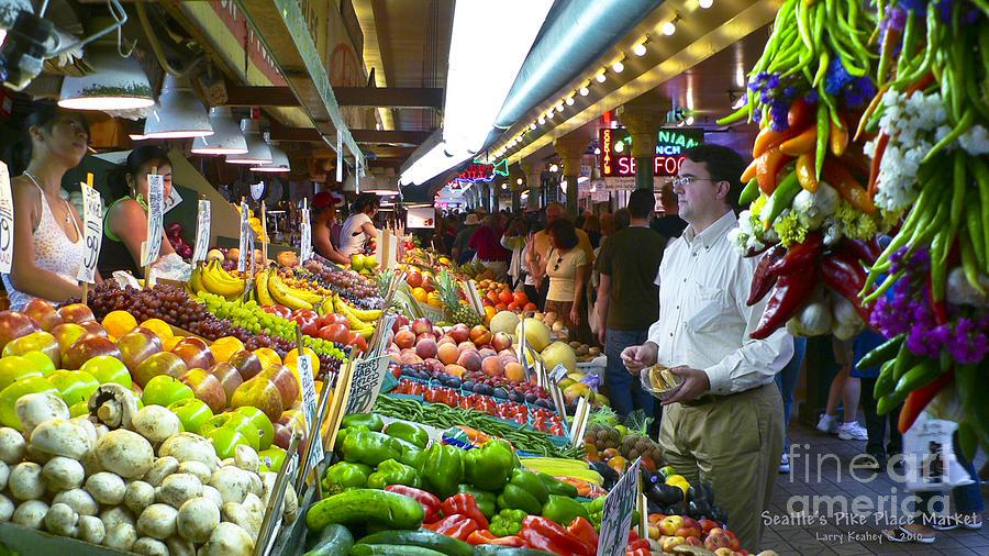Market Photograph - Seattle Market  by Larry Keahey