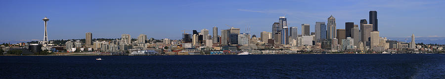 Architecture Photograph - Seattle Panoramic by Adam Romanowicz