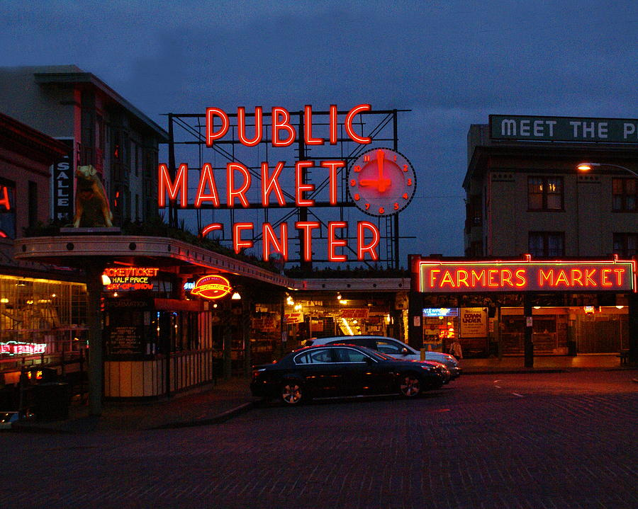 Architecture Photograph - Seattle Public Market by Sonja Anderson