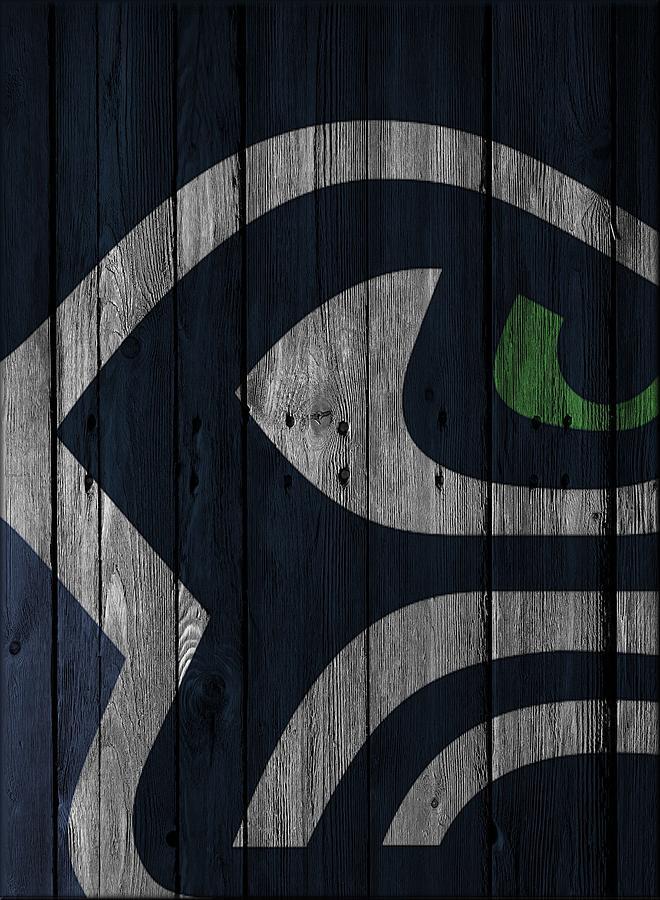 Seahawks Photograph - Seattle Seahawks Wood Fence by Joe Hamilton