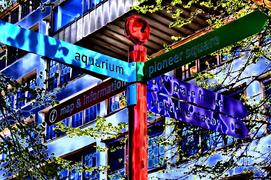 Seattle Photograph - Seattle Sights by David Patterson