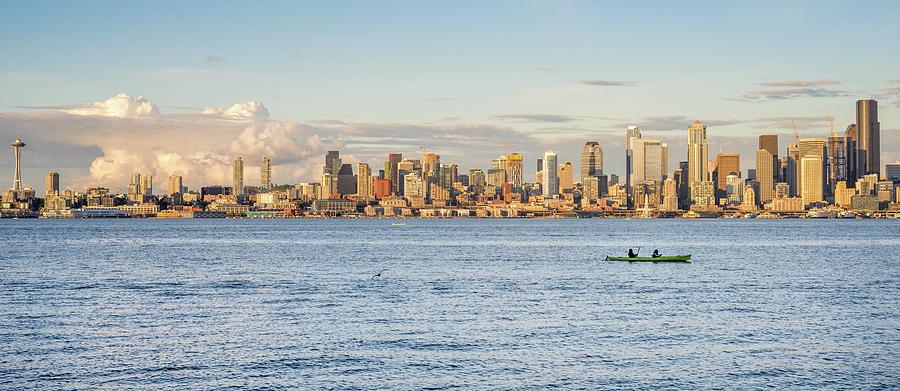 Seattle Skyline 2 by Lindy Grasser