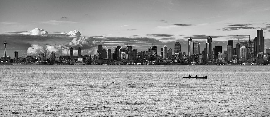 Seattle Skyline 3 by Lindy Grasser