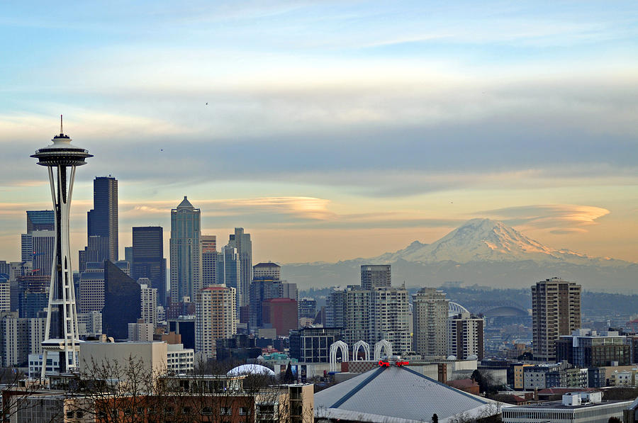Seattle Photograph - Seattle Skyline by Matthew Adair