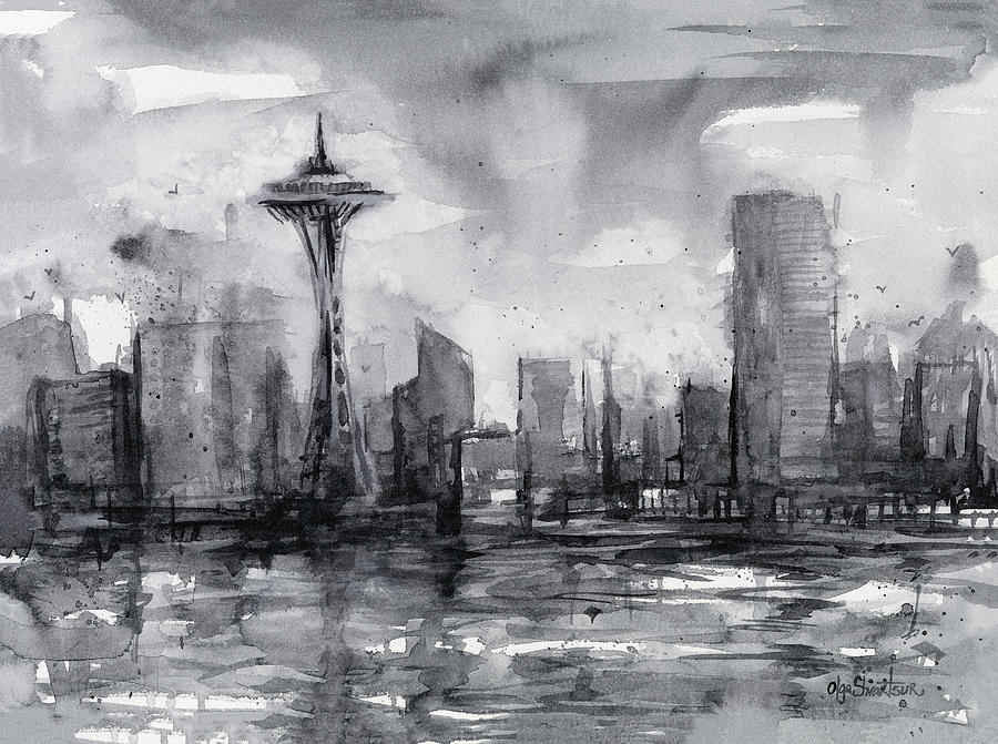 seattle skyline art fine art america