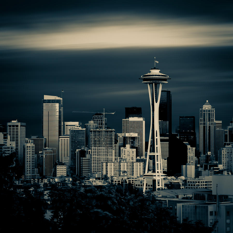 Architecture Photograph - Seattle Skyline by Rod Sterling
