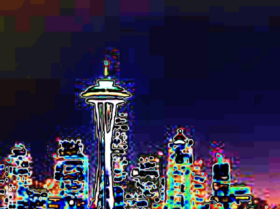 Seattle Photograph - Seattle Skyline by Tim Allen