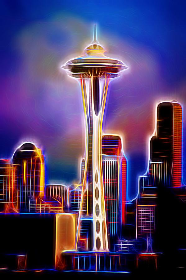 Seattle Space Needle 1 Photograph