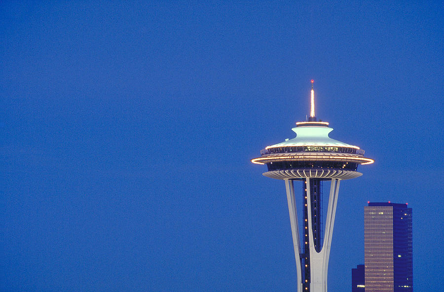 Seattle Photograph - Seattle Space Needle by Greg  West