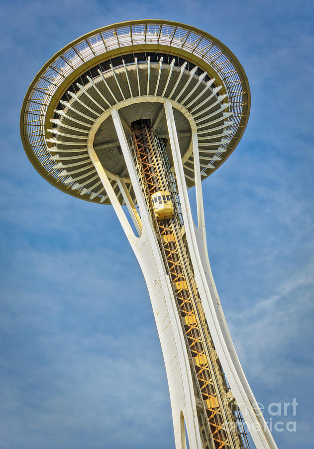 1962 World's Fair Photograph - Seattle Space Needle by Jerry Fornarotto