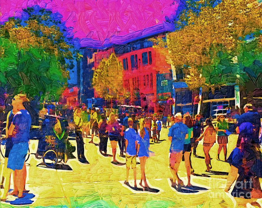 Seattle Digital Art - Seattle Street Scene by Kirt Tisdale