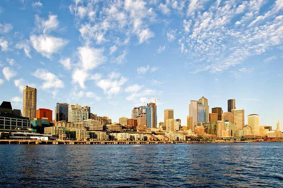 Seattle Photograph - Seattle The Emerald City by Tom Dowd
