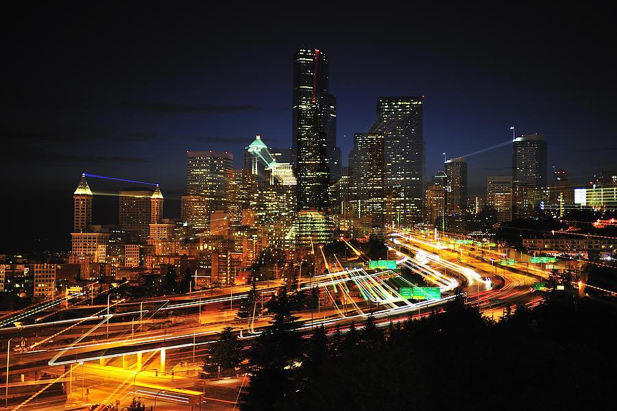 Seattle Photograph - Seattle Zooming C087 by Yoshiki Nakamura