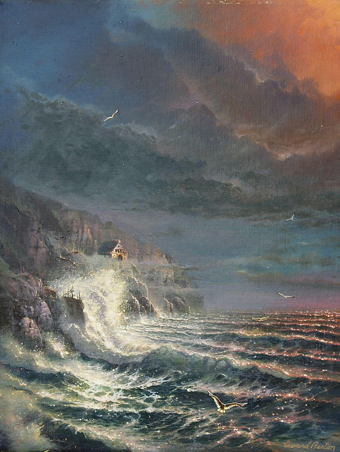 Seascape Painting - Seaview by Edward Barton