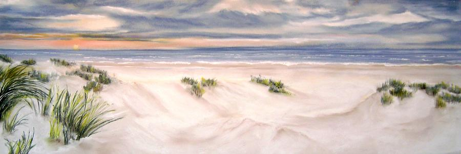 Seaview Painting - Seaview From The Dunes In Holland by Dick Stolp