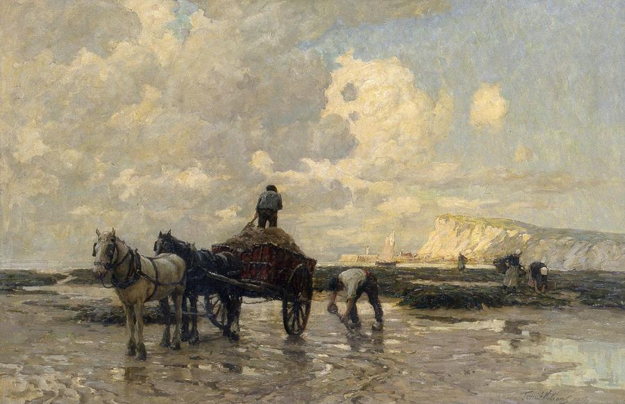 Beaches Painting - Seaweed Gatherers by Terrick Williams
