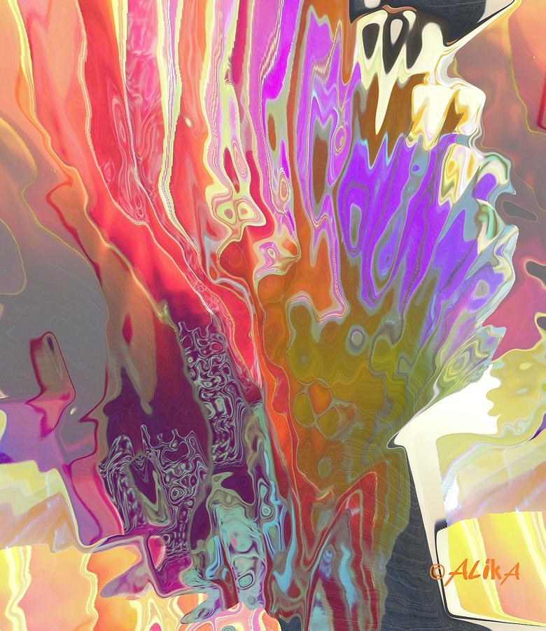 Abstract Digital Art - Seaweeds by Alika Kumar