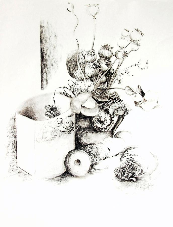 Still Life Drawing - Sec by Muriel Dolemieux