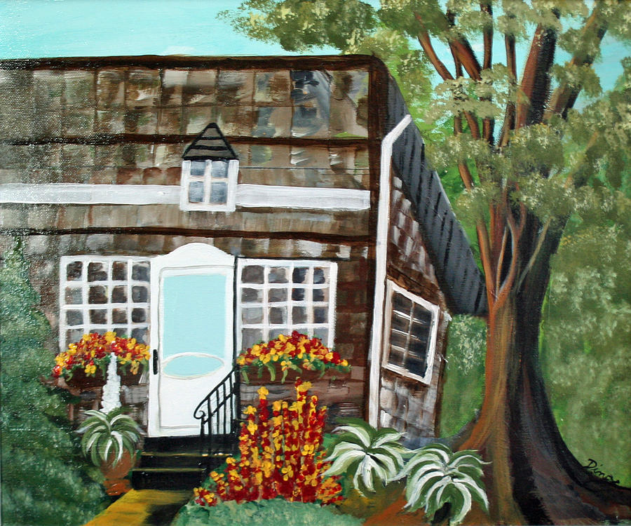 Painting Painting - Secluded Home by Dina Jacobs