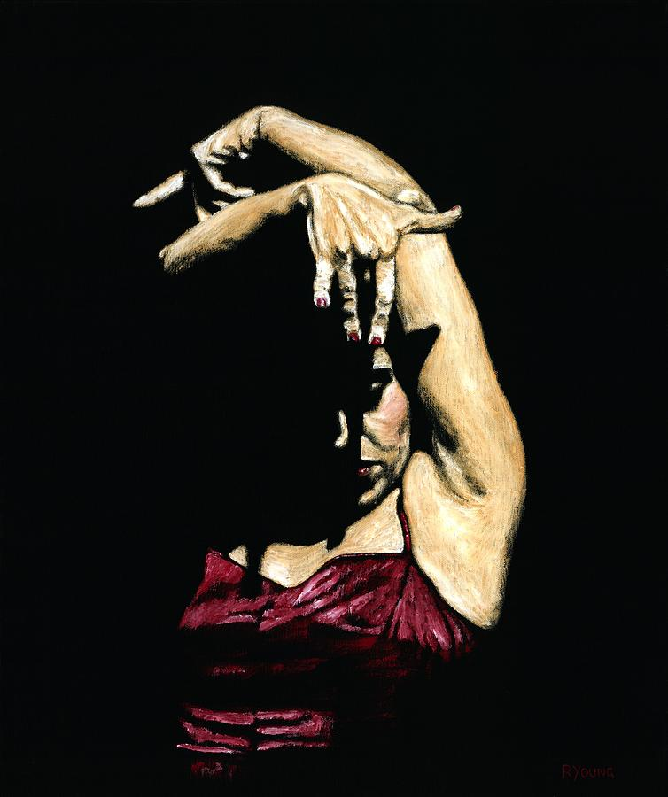 Flamenco Painting - Seclusion Del Flamenco by Richard Young