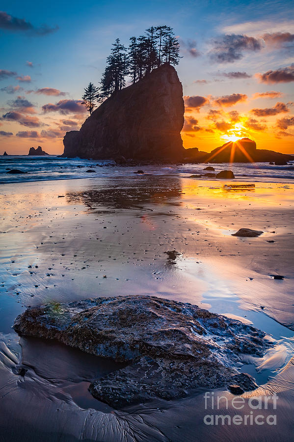America Photograph - Second Beach Rock by Inge Johnsson