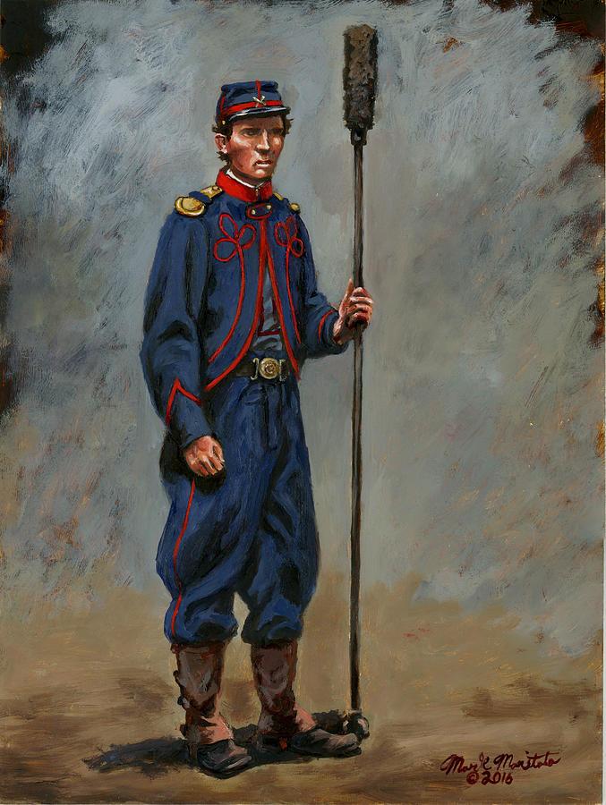 Second Massachusetts Battery Of Light Artillery - Nims Battery 1861 Painting