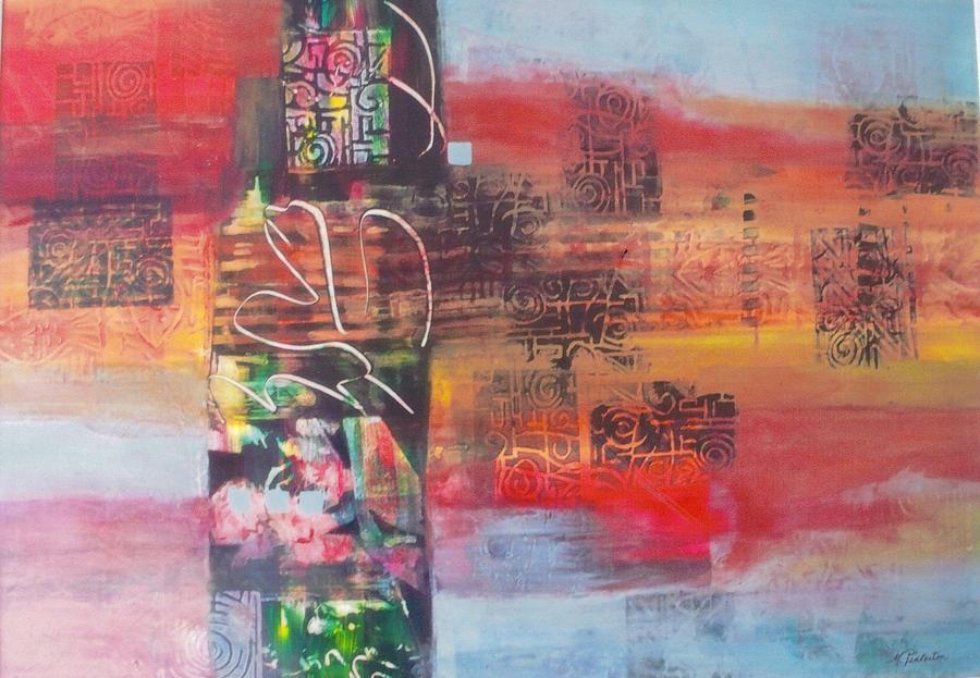 Secrate Strata Painting by Miriam  Pinkerton