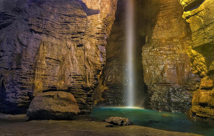 Secret Caverns Waterfall 2 Photograph By Mark Papke